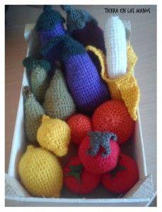 Frutas ganchillo DIY