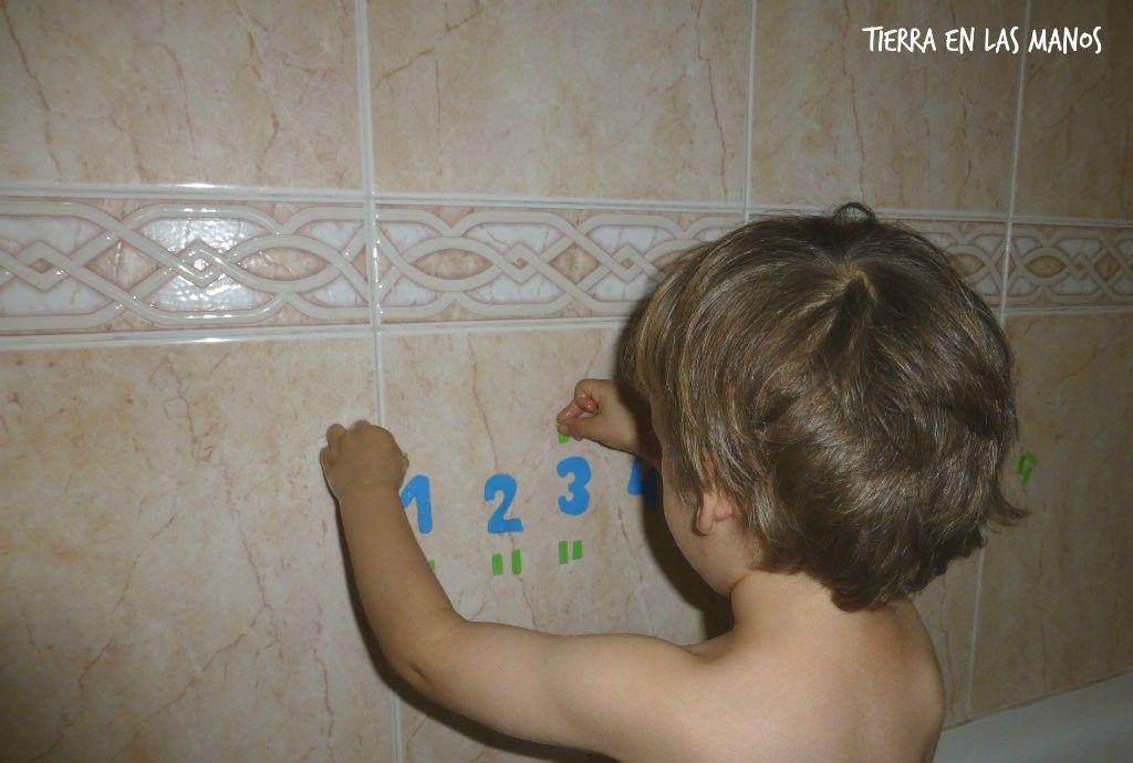 números goma eva bañera