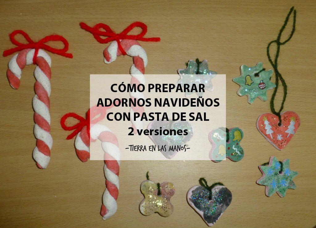 Preparar adornos navide os con pasta de sal tierra en - Como hacer motivos navidenos ...