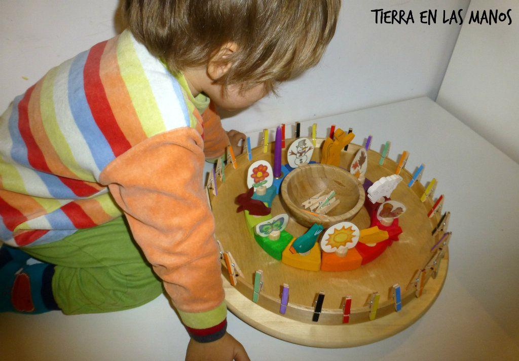 Calendario Montessori.Como Hacer Un Calendario Para Ninos Inspiracion Waldorf Tierra En