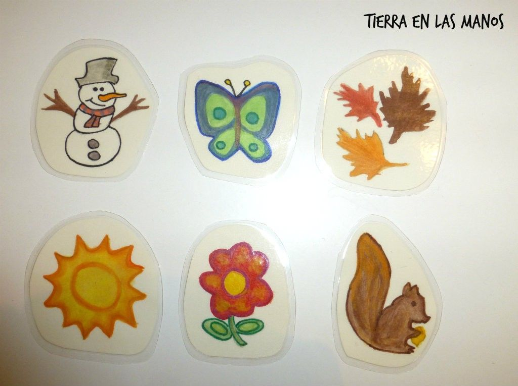 dibujos calendario niños