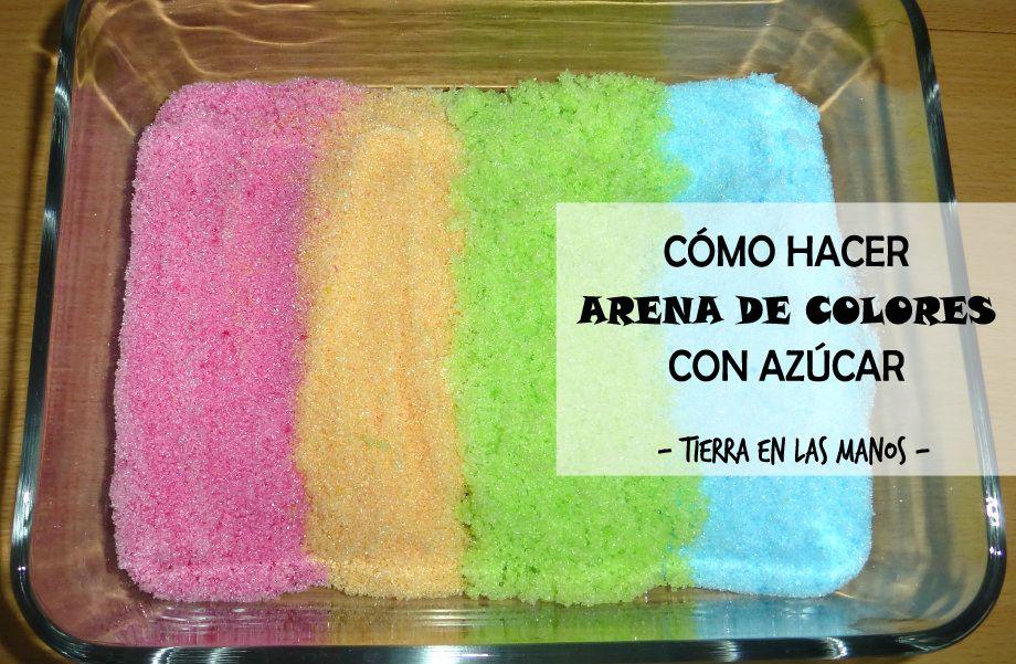 C mo hacer arena de colores con az car tierra en las manos - Como hacer colores ...