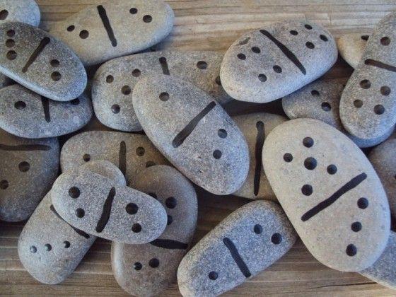 juegos con piedras - domino puntos