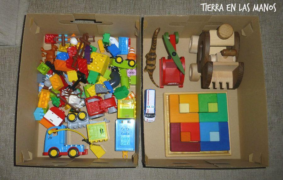 ordenando materiales