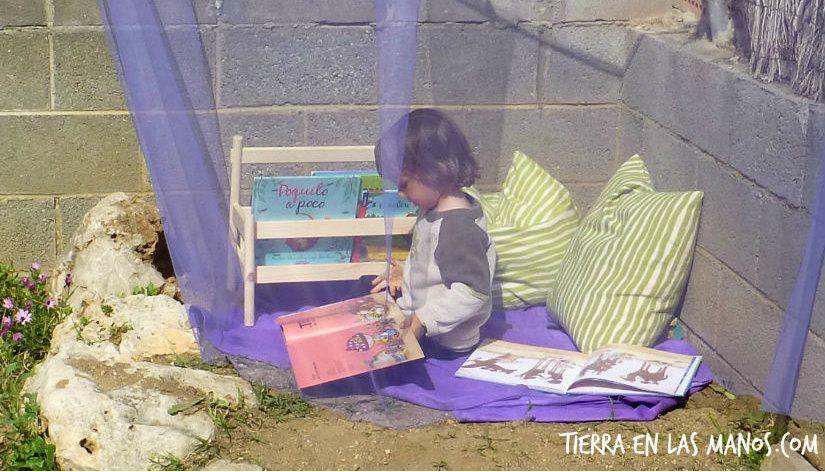 rincón de lectura para niños exterior