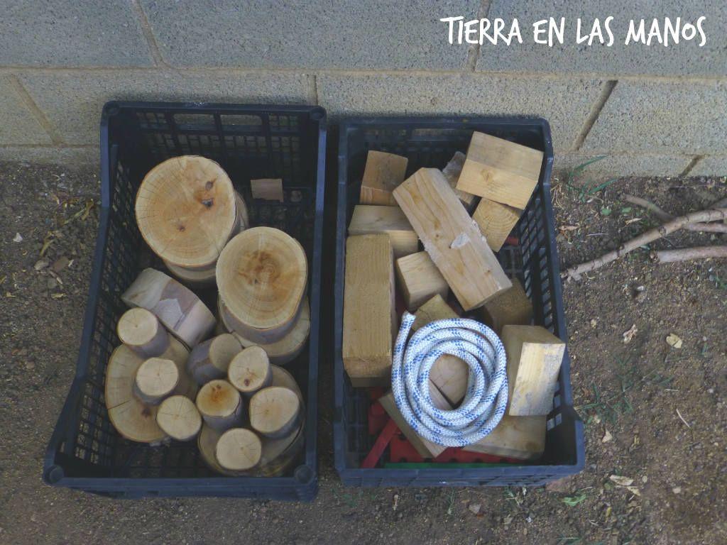 Piezas sueltas troncos