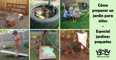 Portada jardín pequeño niños