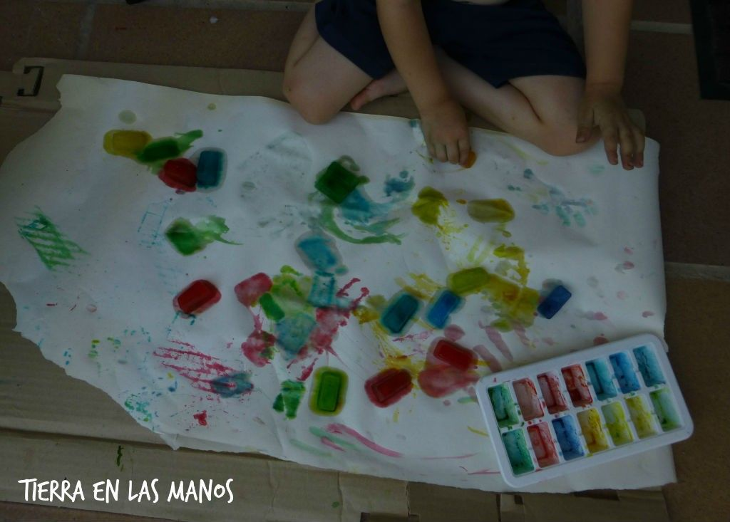 pintar con hielo 3