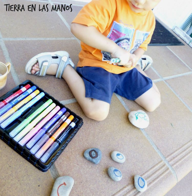 pintando piedras