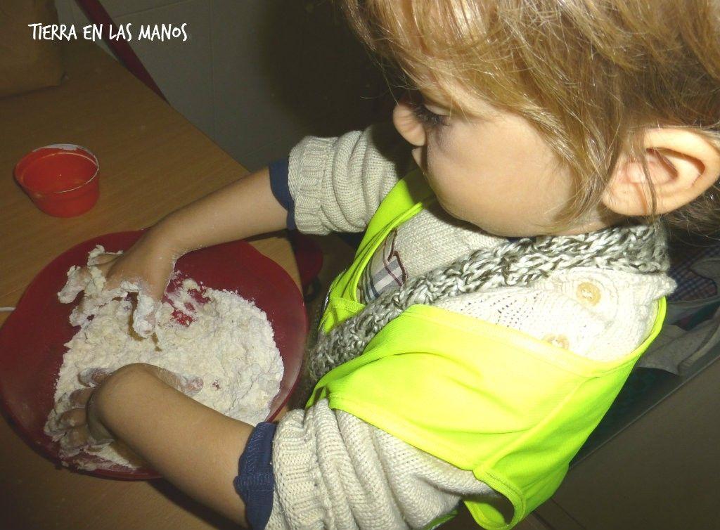 preparando pasta sal