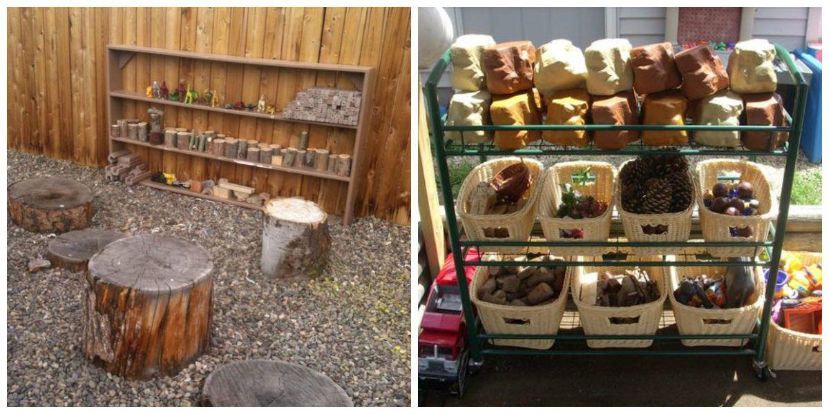almacenaje vertical jardín niños
