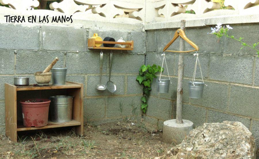 cocinita exterior jardín niños