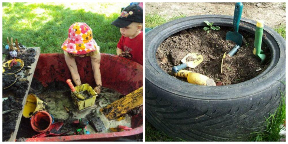jugar con tierra jardín