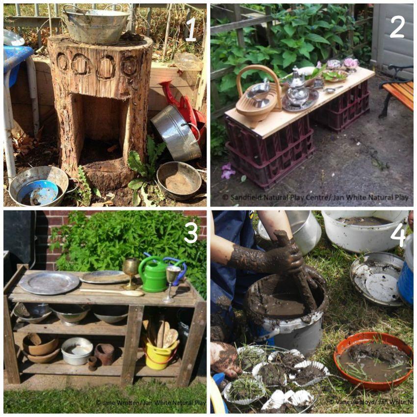 mud kitchens jardín nios